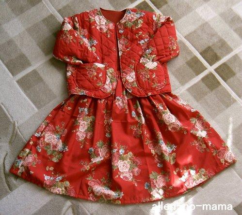 花柄ジャケット&スカート